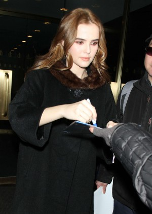 Zoey Deutch at NBC'S Today Show Promoting Grease Live in New York