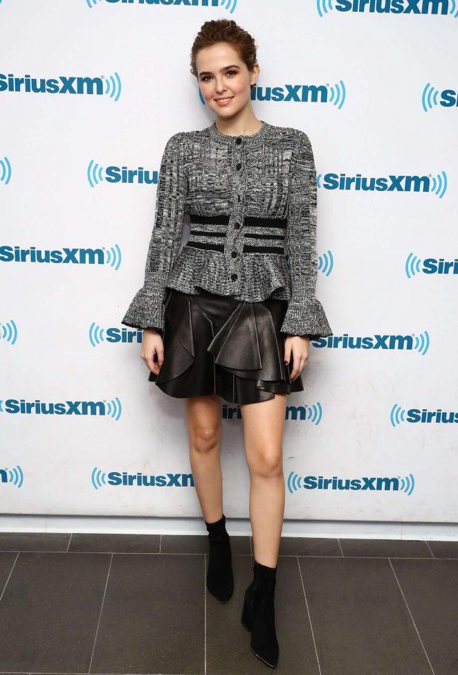 Zoey Deutch at SiriusXM radio studios -01