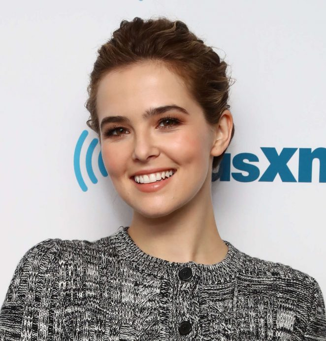 Zoey Deutch at SiriusXM radio studios -03