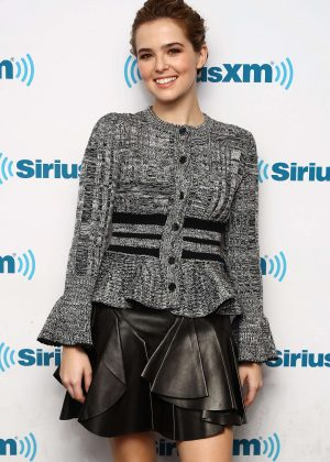 Zoey Deutch at SiriusXM radio studios in New York