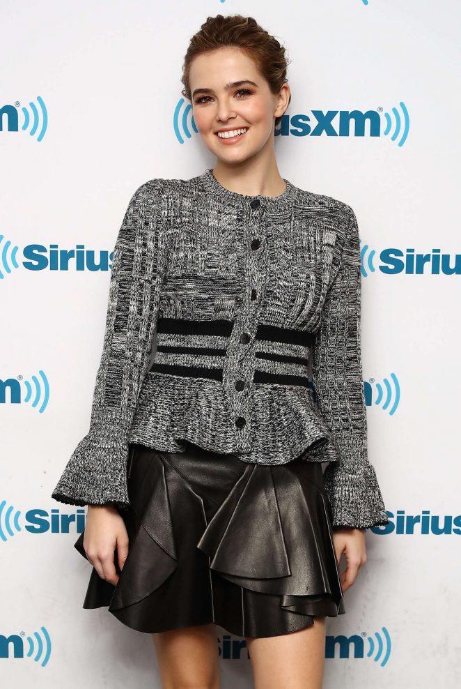 Zoey Deutch at SiriusXM radio studios in New York