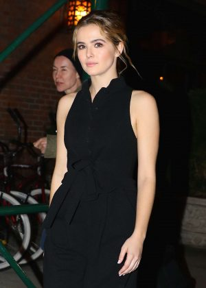 Zoey Deutch at The Bowery Hotel in New York