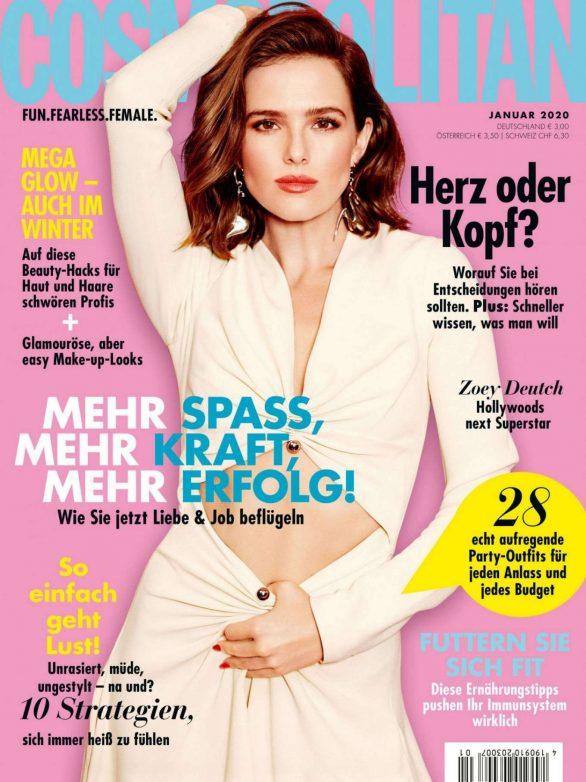 Zoey Deutch - Cosmopolitan Germany Magazine (January 2020)