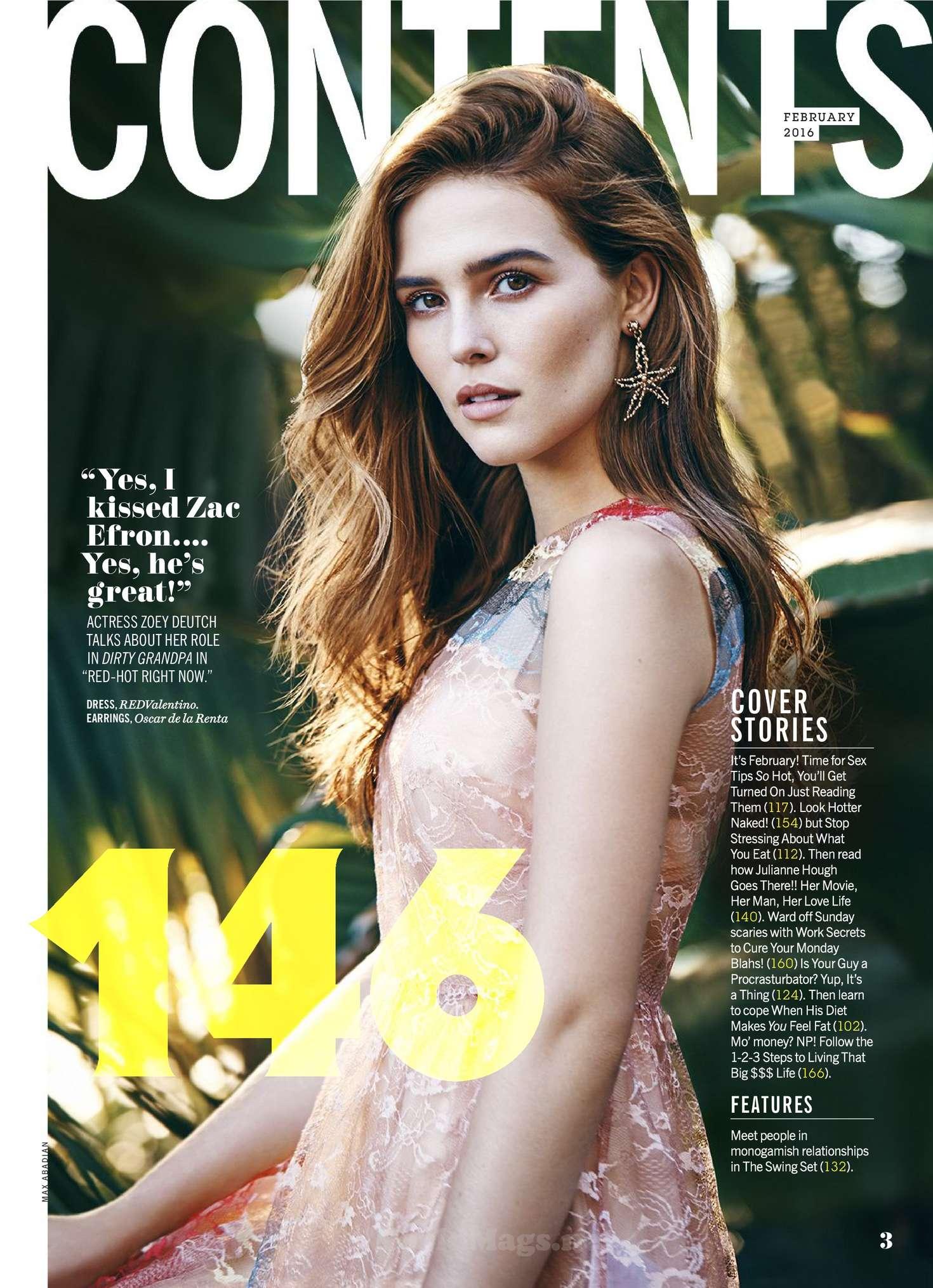 Zoey Deutch 2016 : Zoey Deutch: Cosmopolitan Magazine 2016 -16