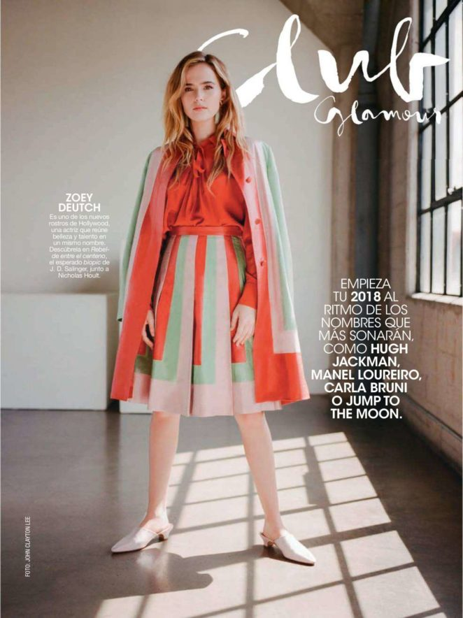 Zoey Deutch – Glamour Spain Magazine (January 2018)