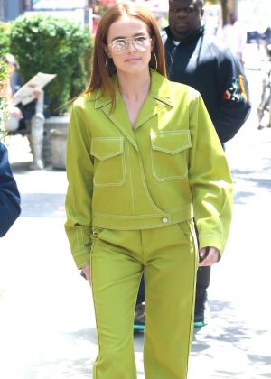 Zoey Deutch in Green - Out in New York City