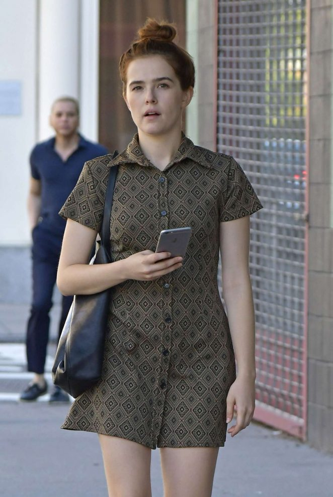 Zoey Deutch in Mini Dress out in New York City