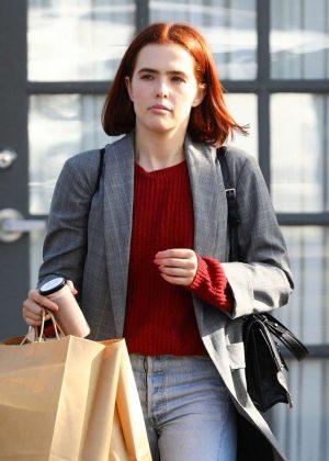 Zoey Deutch - Leaving an office building in LA