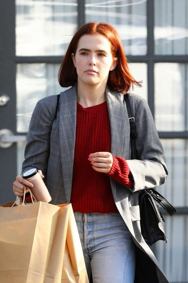 Zoey Deutch – Leaving an office building in LA