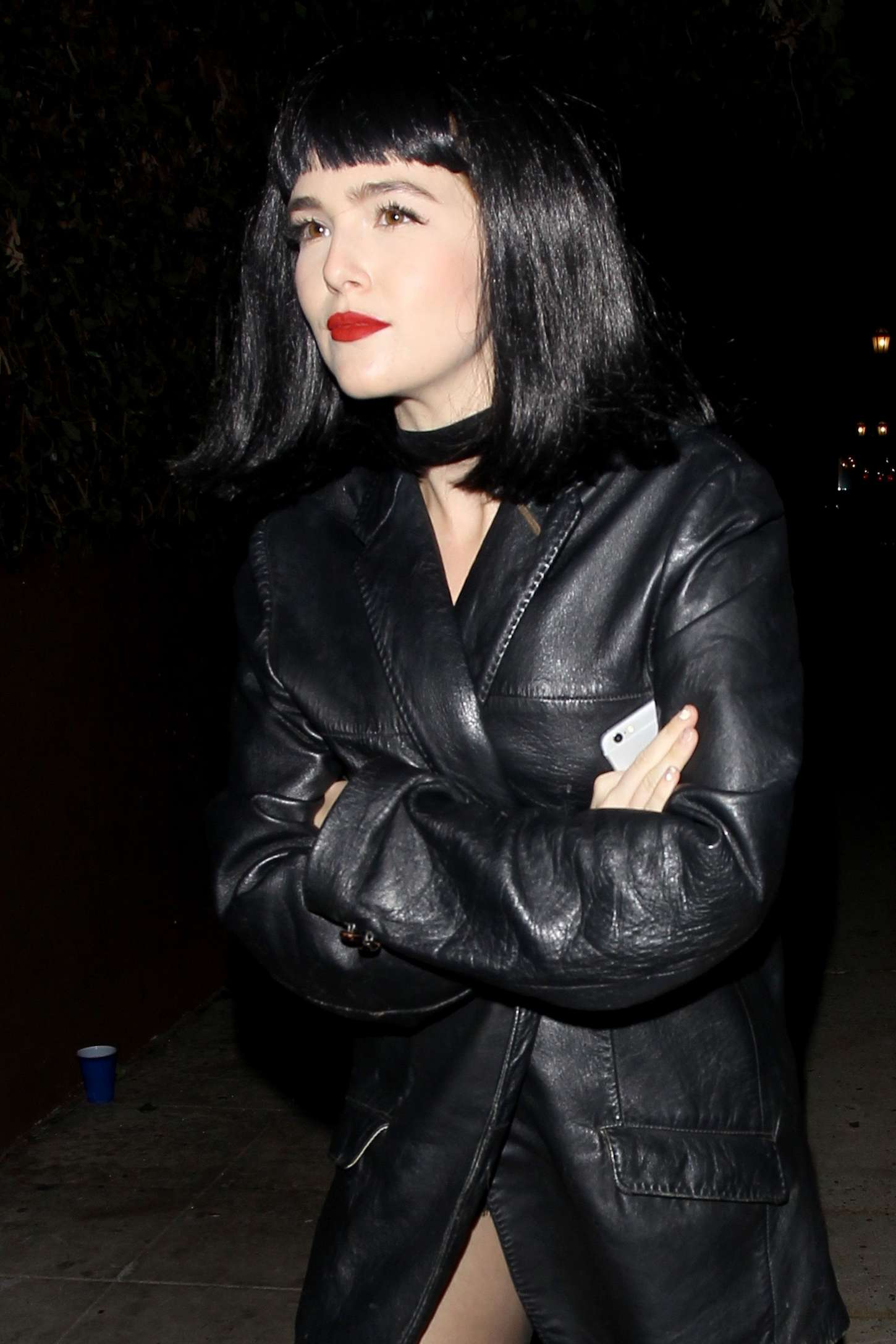 Zoey Deutch - Leaving Le Jardin Night Club in Hollywood
