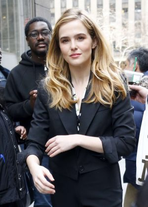 Zoey Deutch - Leaving Sirius Radio Building in New York