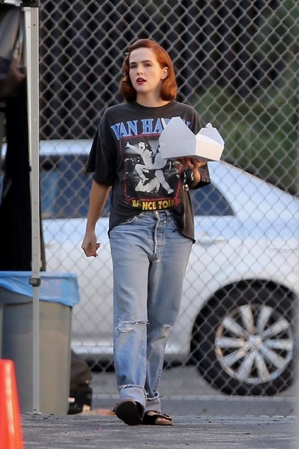 Zoey Deutch - Makes a cameo for Justin Bieber's latest music video in Los Angeles