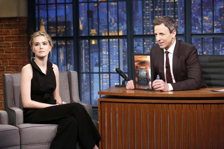Zoey Deutch 2016 : Zoey Deutch on Late Night with Seth Meyers -01