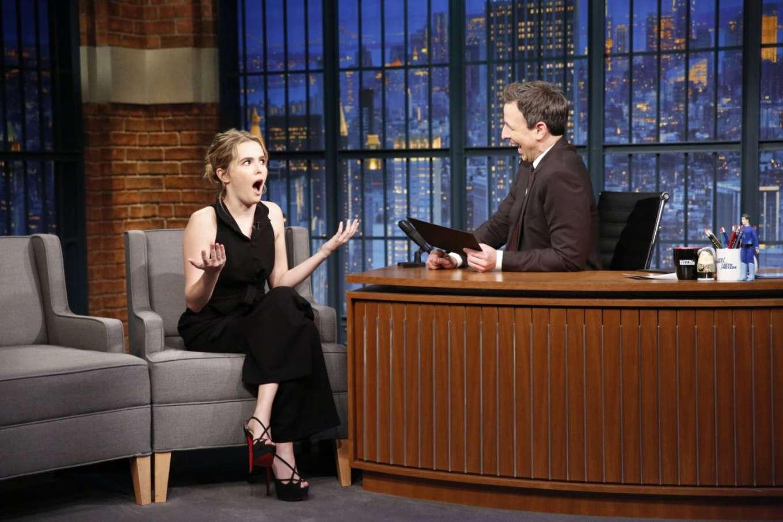 Zoey Deutch 2016 : Zoey Deutch on Late Night with Seth Meyers -08