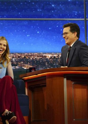 Zoey Deutch on 'The Late Show with Stephen Colbert' in New York