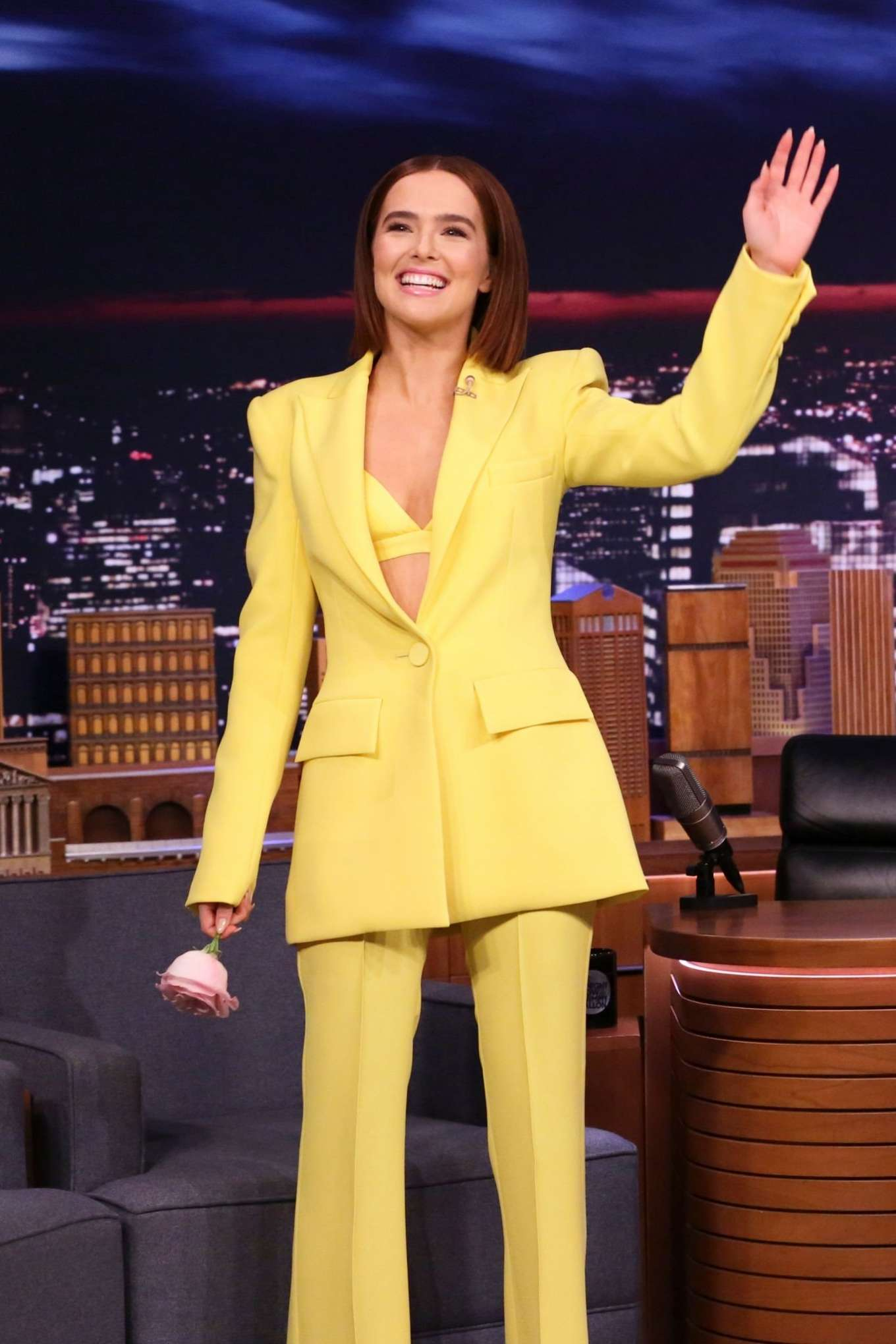 Zoey Deutch - on The Tonight Show Starring Jimmy Fallon in NYC