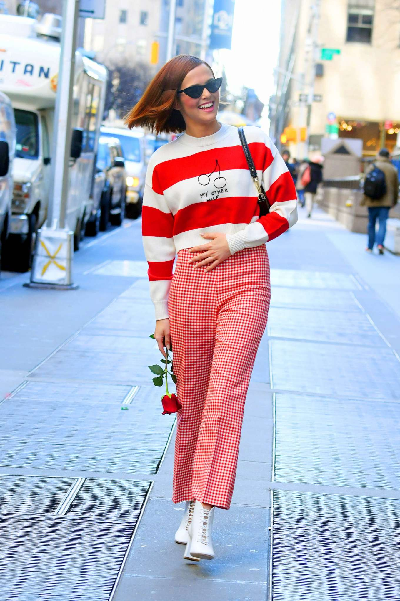 Zoey Deutch - Seen out in NYC on Valentine's day