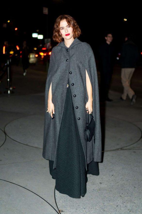 Zoey Deutch - Seen outside 2019 Guggenheim International Gala in NY