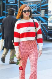 Zoey Deutch - Steps out in for Valentine's day in New York