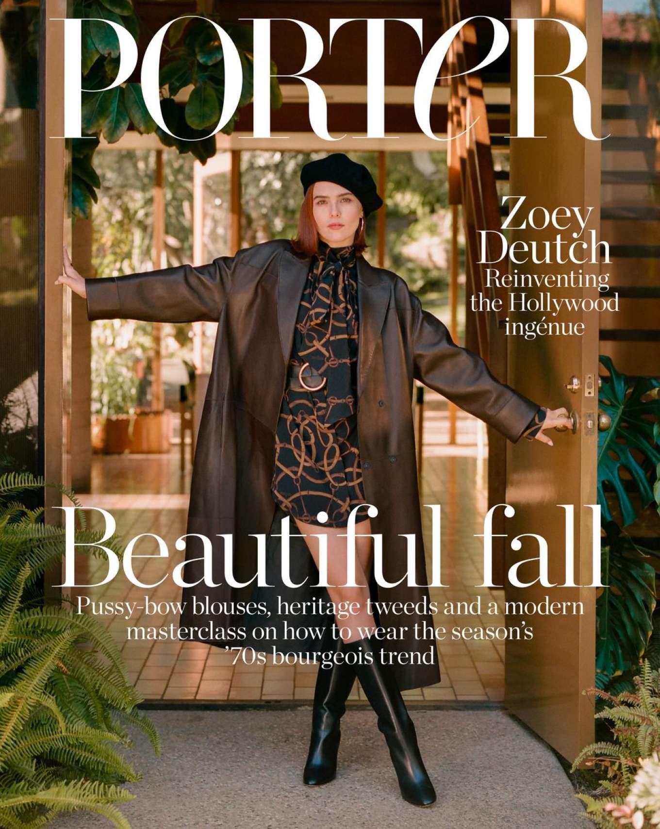 Zoey Deutch - The Edit by Net-A-Porter Magazine (October 2019)