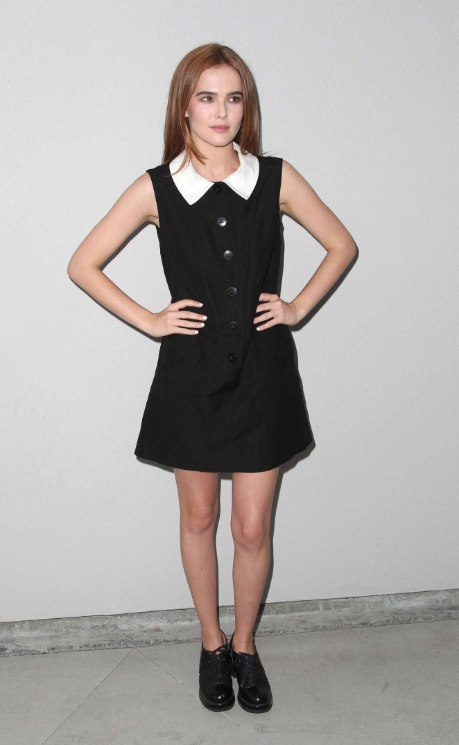 Zoey Deutch - Wolk Morais Debut Resort Pre-Fall Collection Fashion Show in LA