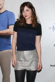 Zooey Deschanel - Arriving at 'The New One' Play by Mike Birbiglia in Los Angeles