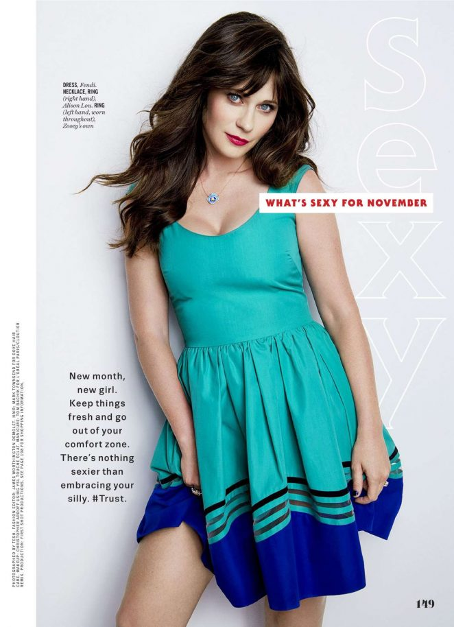 Zooey Deschanel - Cosmopolitan US Magazine (November 2016)