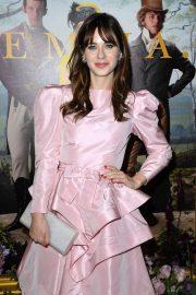 Zooey Deschanel - In Pink Short dress at 'Emma' premiere in Los Angeles