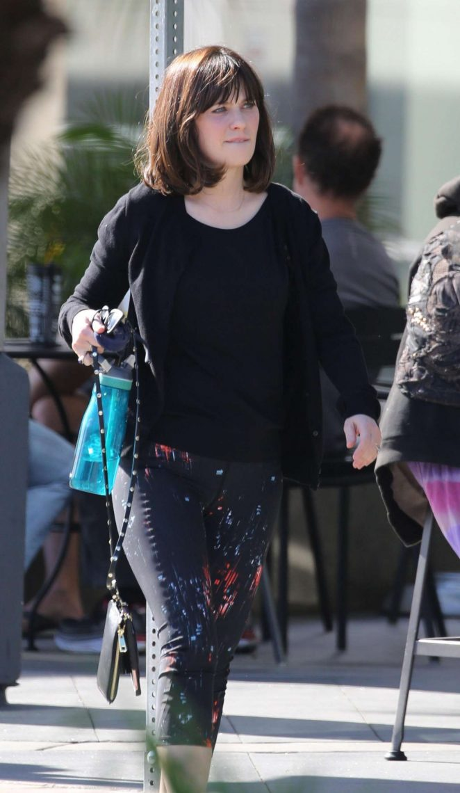 Zooey Deschanel in Tights out in LA