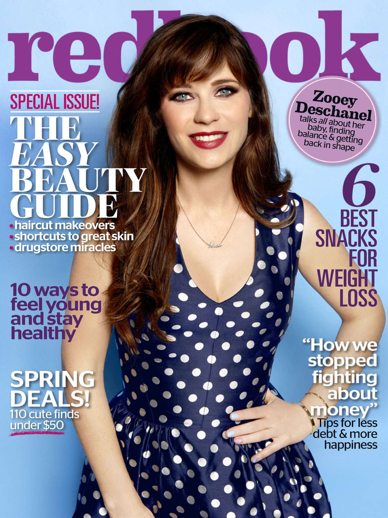 Zooey Deschanel - Redbook Magazine (May 2016)