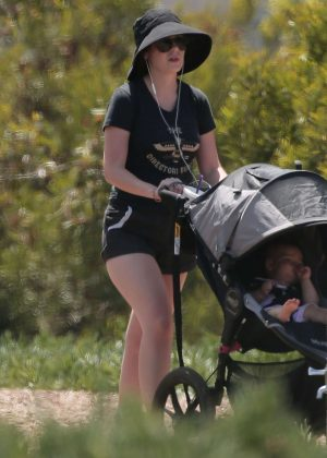 Zooey Deschanel with her baby out in Los Angeles