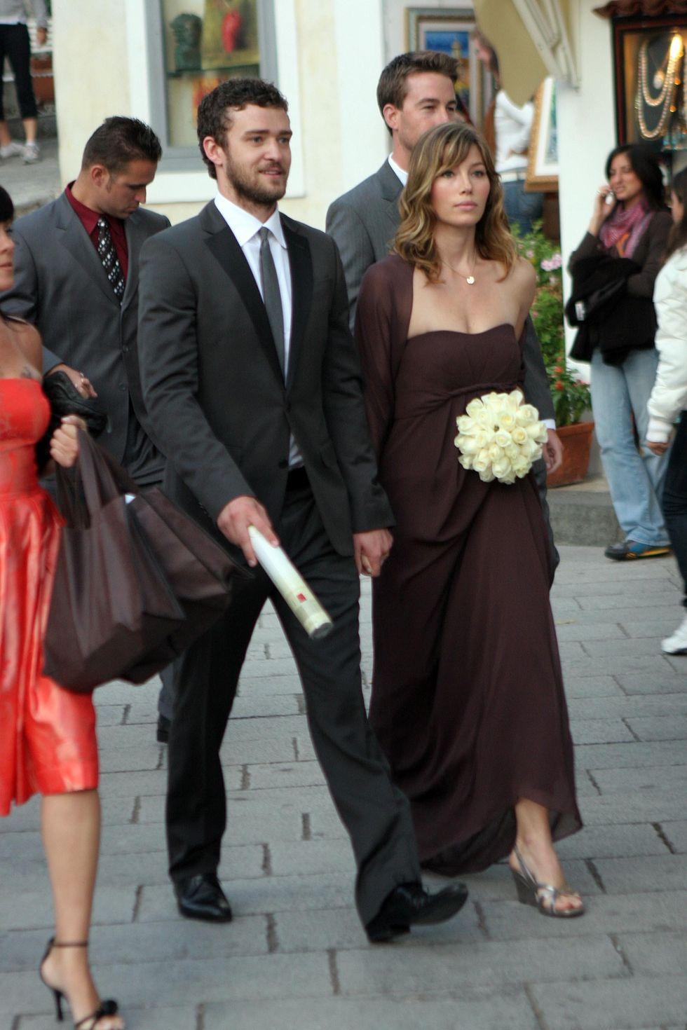 Jessica Biel At Beverley Mitchell Wedding In Ravello