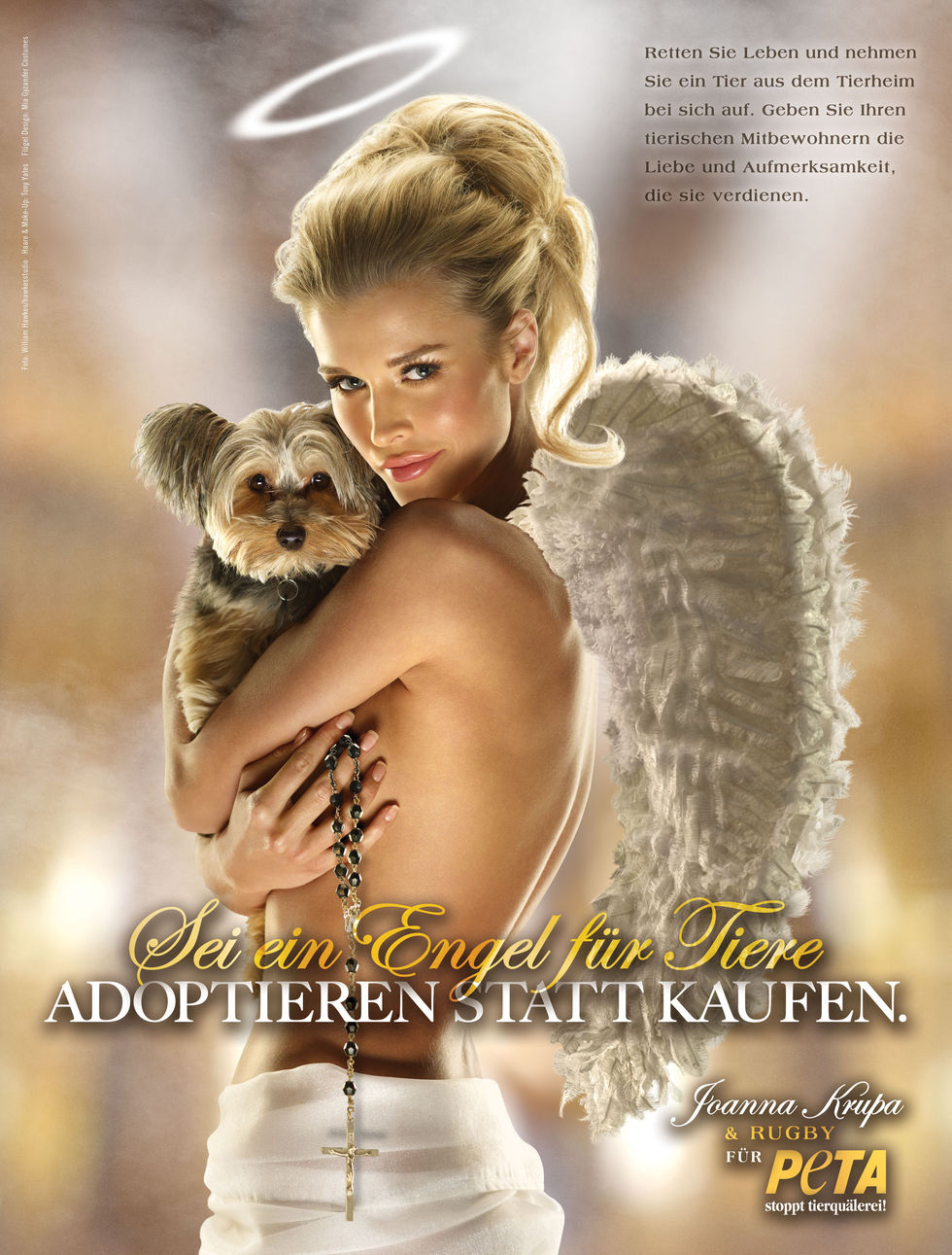"Pics of: Joanna Krupa - ""Angel for Animals"" PETA Ad (UHQ)"