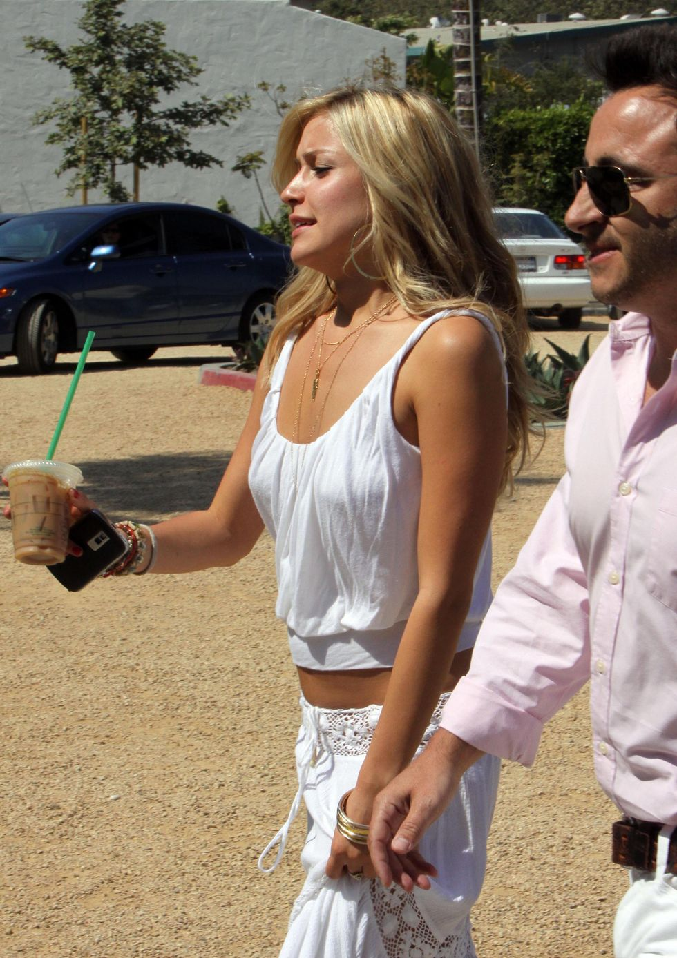 Pics of: Kristin Cavallari - Downblouse Candids in Malibu